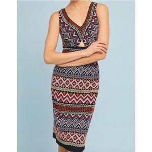 Akemi + Kin Aztec Geo Embroidered Column Dress